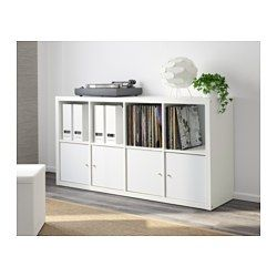 IKEA - KALLAX, Shelf unit, white, , Choose whether you want to place it vertically or horizontally to use it as a shelf or sideboard.