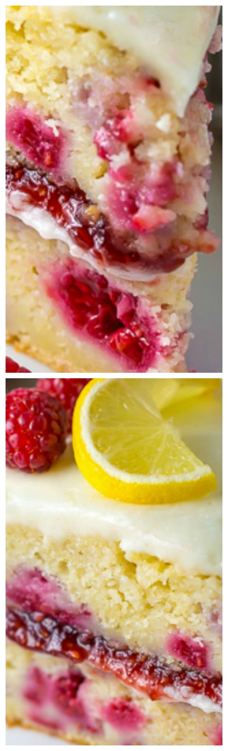 Lemon Raspberry Cake ~ Ultra moist and flavorful