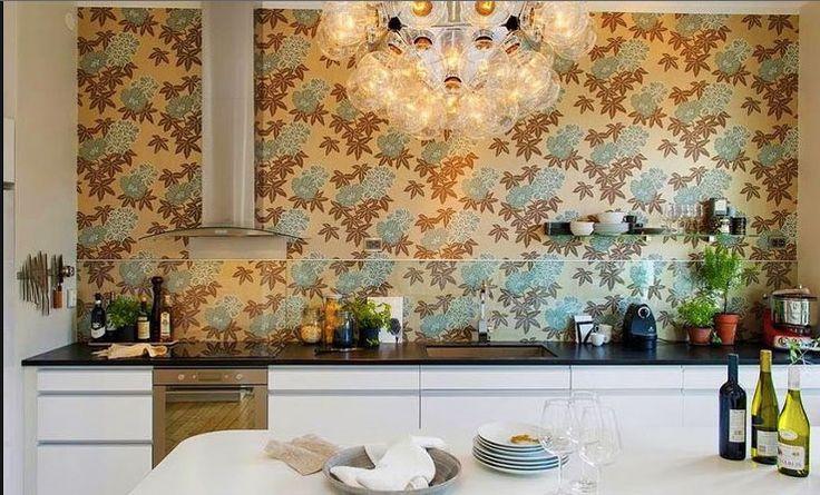Cuisine avec credence en papier peint cuisines avec - Credence cuisine fantaisie ...