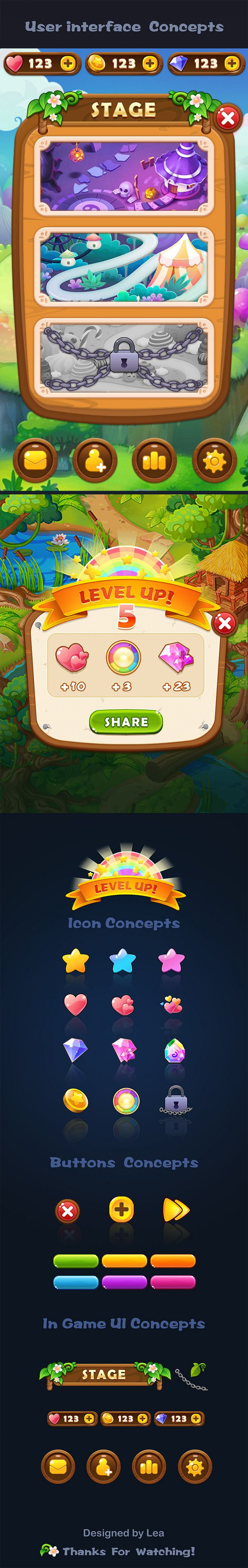 User interface concepts #Game #UI #Design