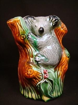 Vintage Australian Pottery Delamere Classic artware vase.