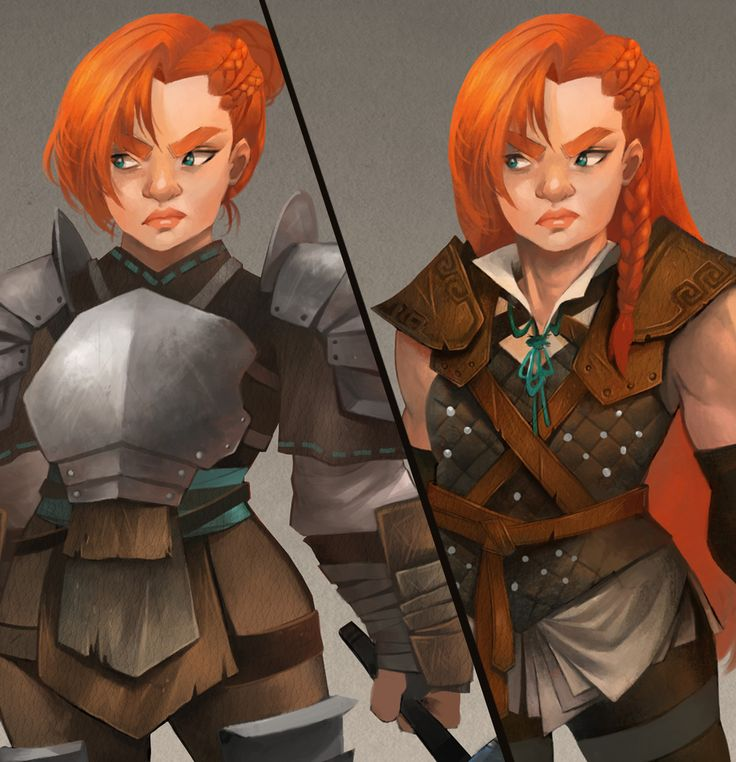 Female Dwarf Warrior Armor Variations, Stef Tastan on ArtStation at https://www.artstation.com/artwork/xqJZ4