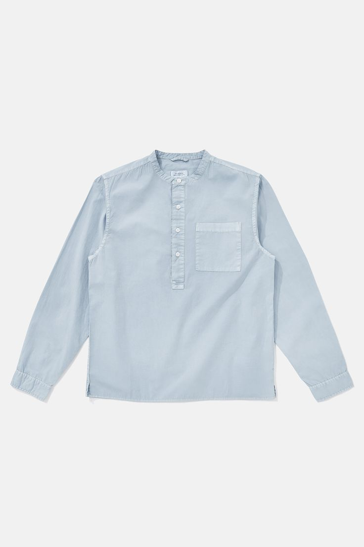 Dimitri Popover Shirt, Washed Indigo