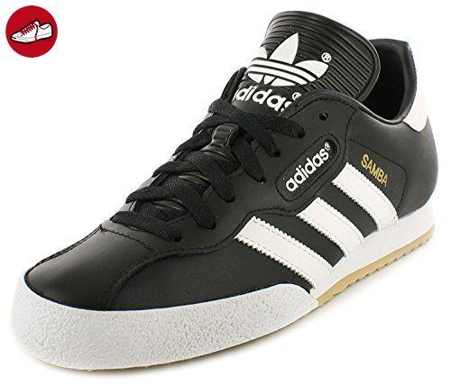 Adidas Samba Super Schwarz Textil Leder Hallenfußball Turnschuhe - Schwarz/weiß - UK GRÖßEN 6-12 - Schwarz/Weiß, EU 44, Synthetik - Adidas schuhe (*Partner-Link)