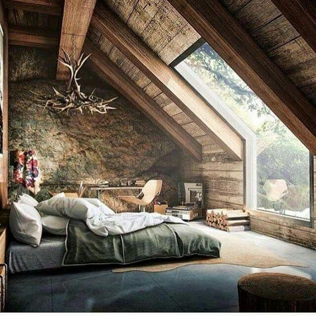 I like the concept of this bedroom but I don't really like the decor or how it's set up.