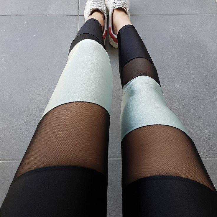 Premium lycra mesh leggings