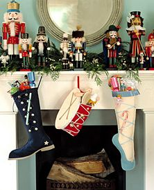 Decorating with nutcrackers at Christmas.  My father gave me my first one at age 10.  Not sure how many I have but I love to decorate my mantel or buffet with them each year.