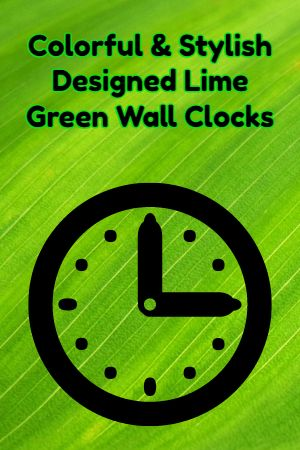 27 best lime green wall clock images on pinterest lime on wall clocks id=91066