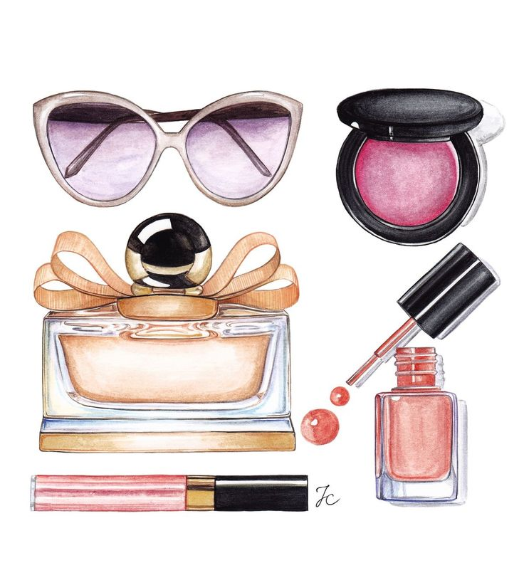 Drawing Of Makeup Products