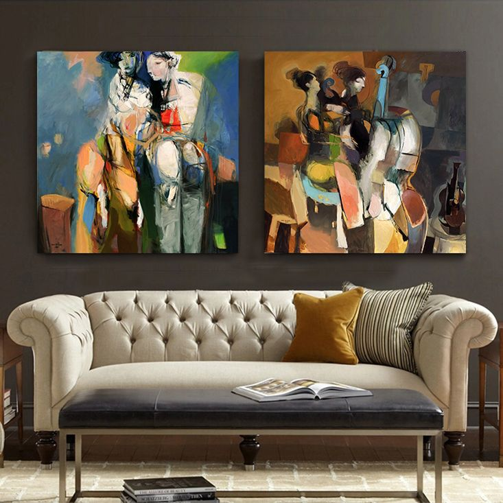 Find More Painting Calligraphy Information About Fauvist Nudes Modern Abstract Canvas Wall Art Cello Music Woman Living Room Bedroom Home Decorative
