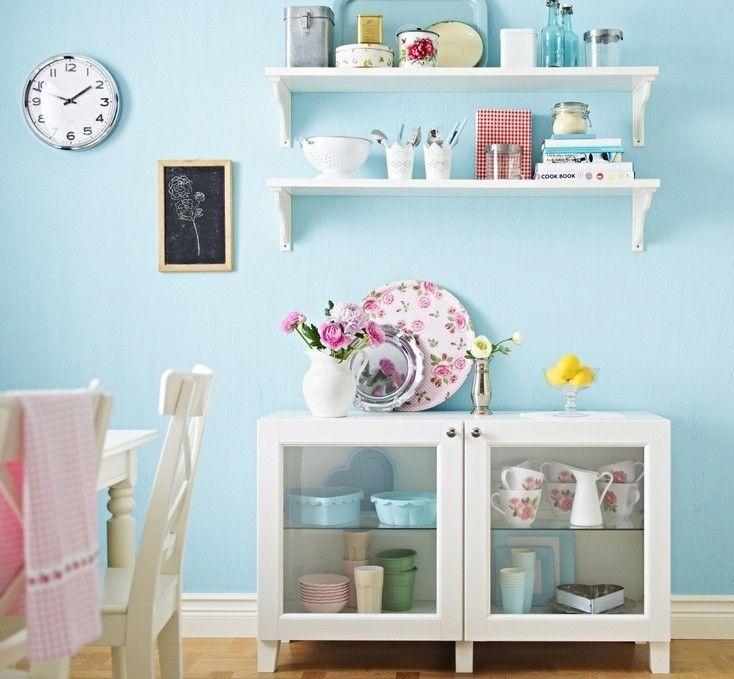 Cucina color pastello, tonalità azzurra  #pastel #color #inspiration #home #kitchen