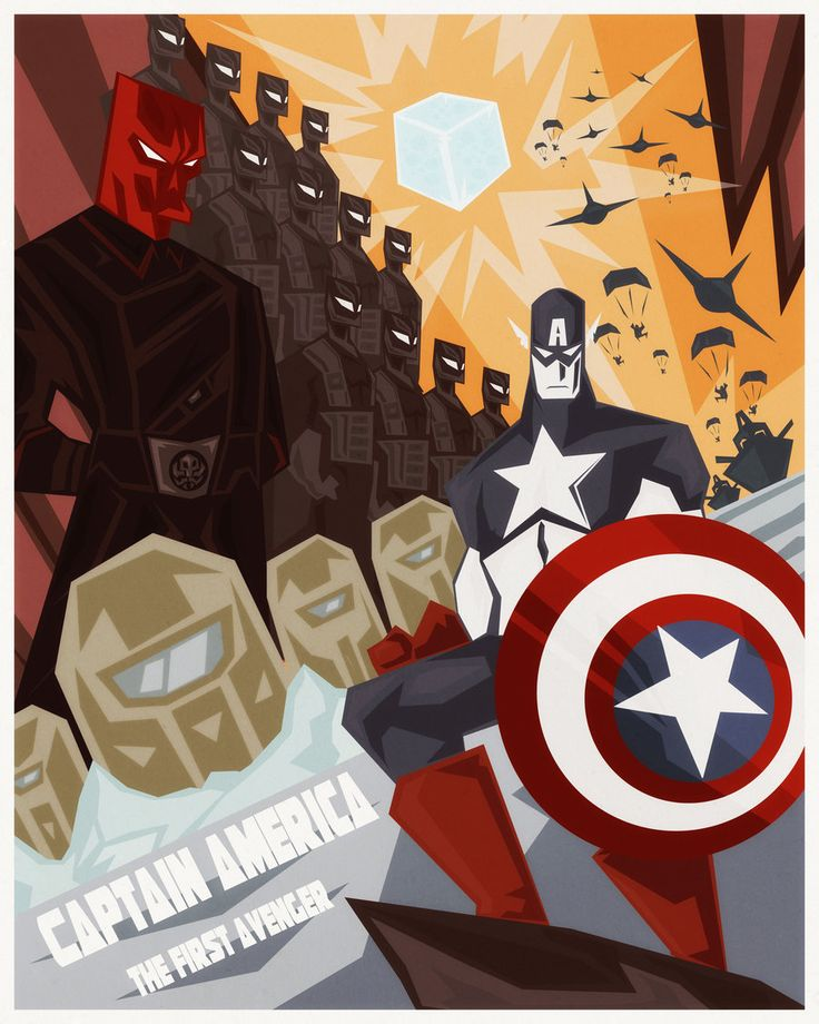 Captain America The First Avenger: Super Stylized Deviantart poster