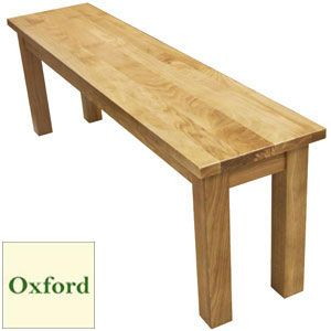 Buy Oxford Oak Dining Bench at Home Bargains