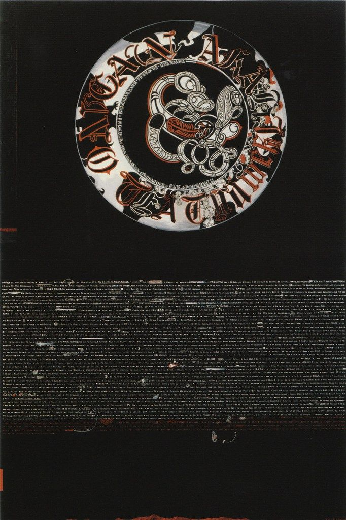 Shane Cotton, He Pukapuka Tuatahi, 2000