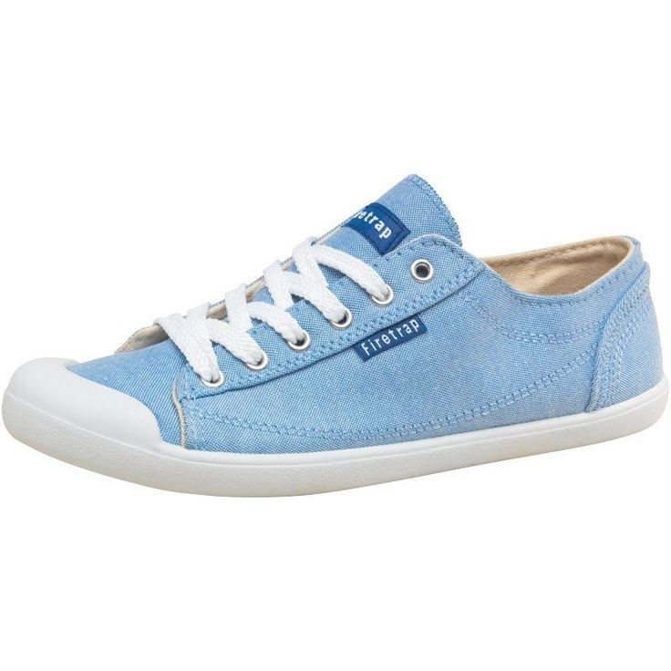 Womens Firetrap Cutie Casual Plimsolls Lace Up Flat Pumps Trainers Shoes UK 3- 8