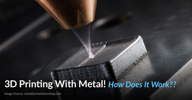 3D metal printer. Instead of hauling countless unnecessary spare parts. A layer of metal powder spread evenly over the surface, a torch only welds powder in specific places.