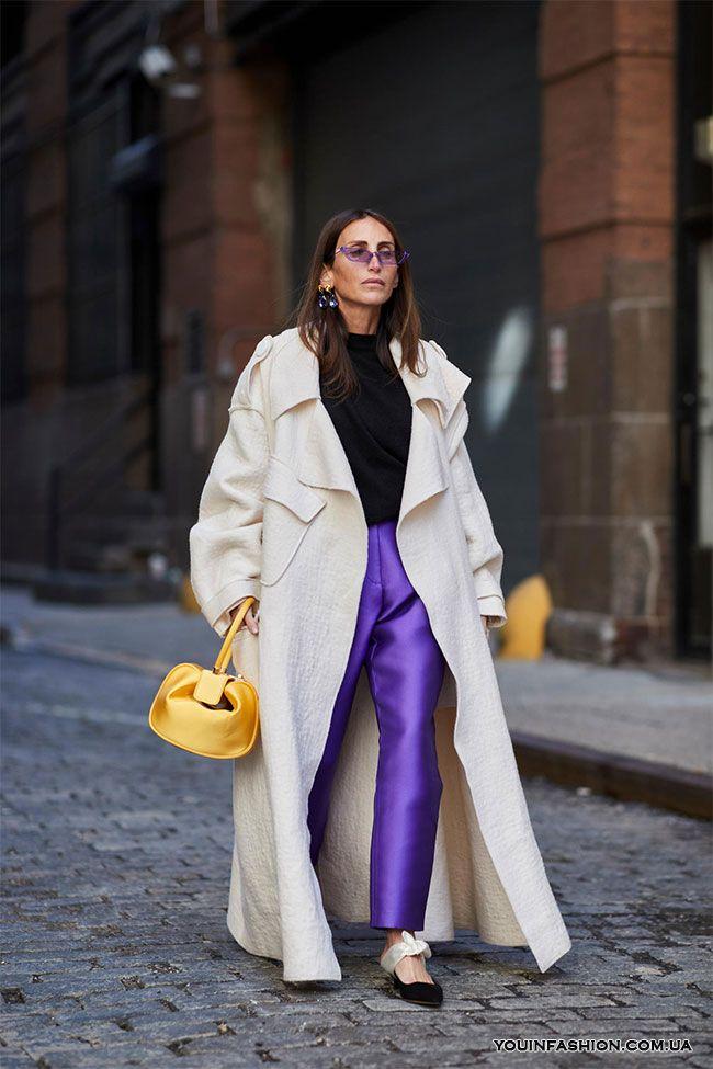 Street style на Неделе моды в Нью-Йорке осень-зима 2018-2019   F ... 3d38368de30