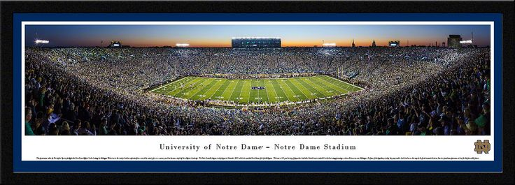 Notre Dame v. Michigan Panoramic Picture - 2014