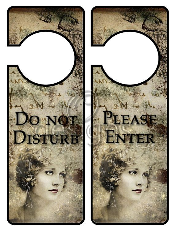 Door Hanger Signs No 2 Digital File by Odesigns on Etsy, €2.00