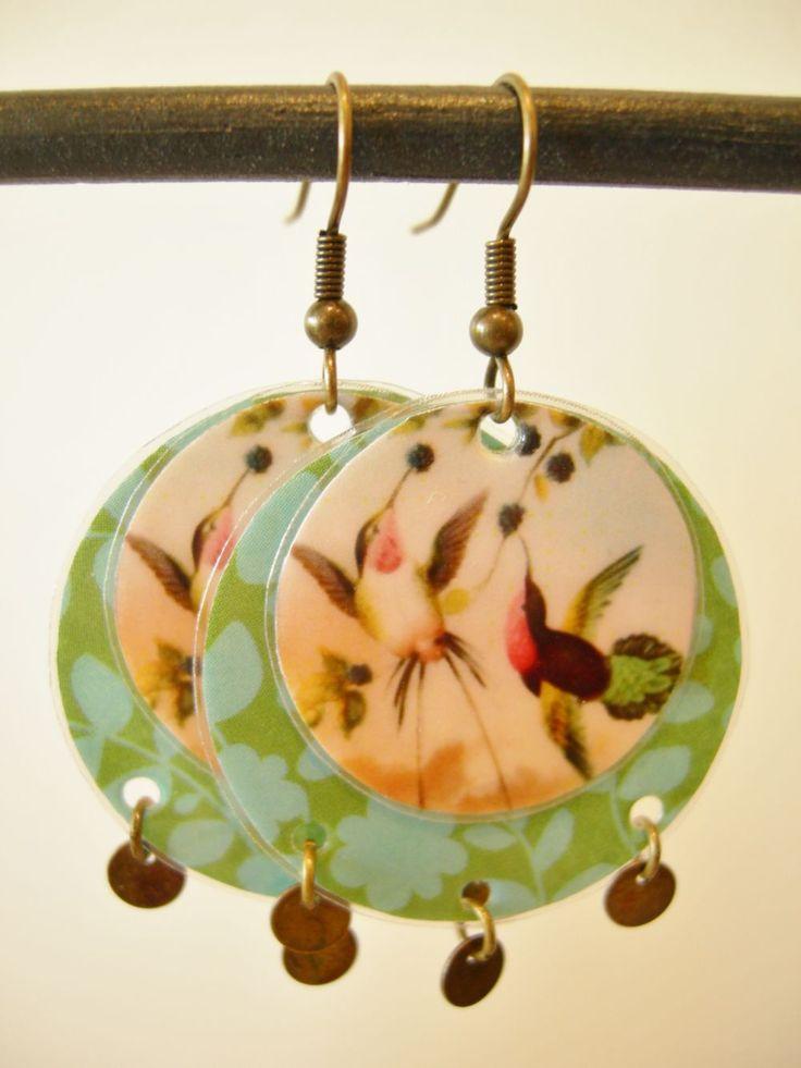 """Boucles d'oreille """"oiseaux de printemps"""" A14 via LUNE ROUSSE. Click on the image to see more!"""