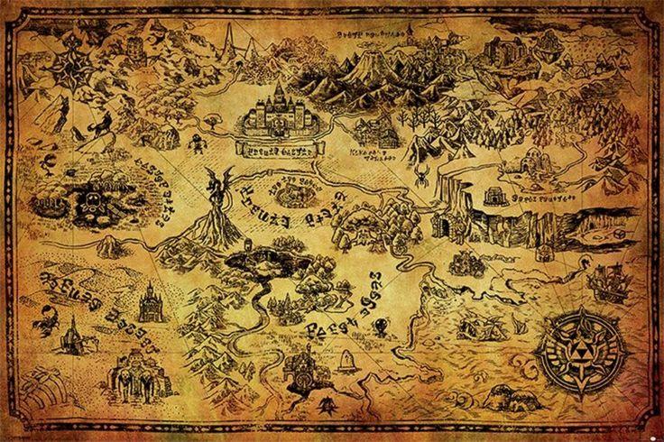 Legend of Zelda - Hyrule Map - Official Poster
