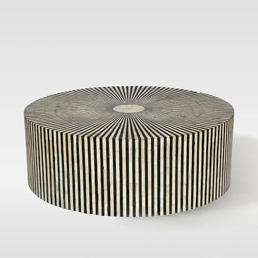 Stripe Inlay Coffee Table | west elm