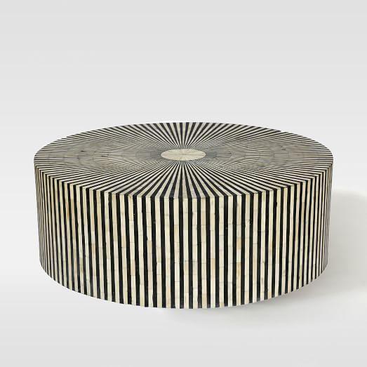 Stripe Inlay Coffee Table | west elm