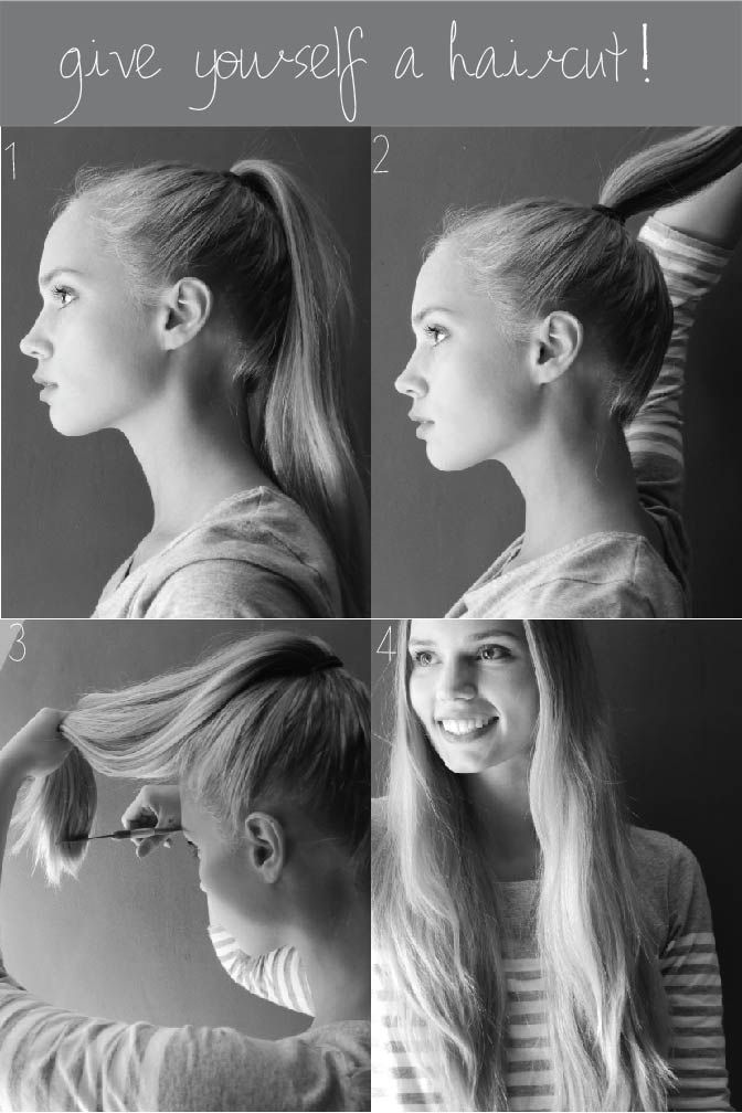 ponytail haircut layers 1000 ideas about cut own hair on cut your own 9917