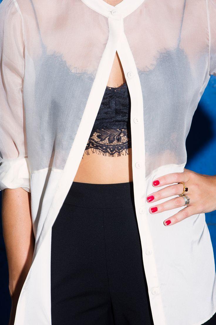 Tendência: Blusa com transparência | Fashion by a little fish