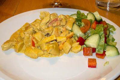 Kyckling med wokgrönsaker i kokosmjölk