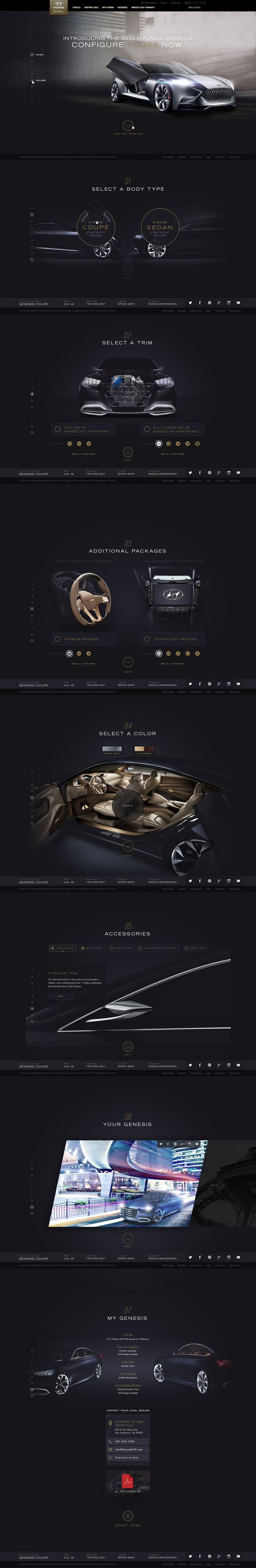 Unique Web Design, Hyundai Genesis #WebDesign #Design (http://www.pinterest.com/aldenchong/)