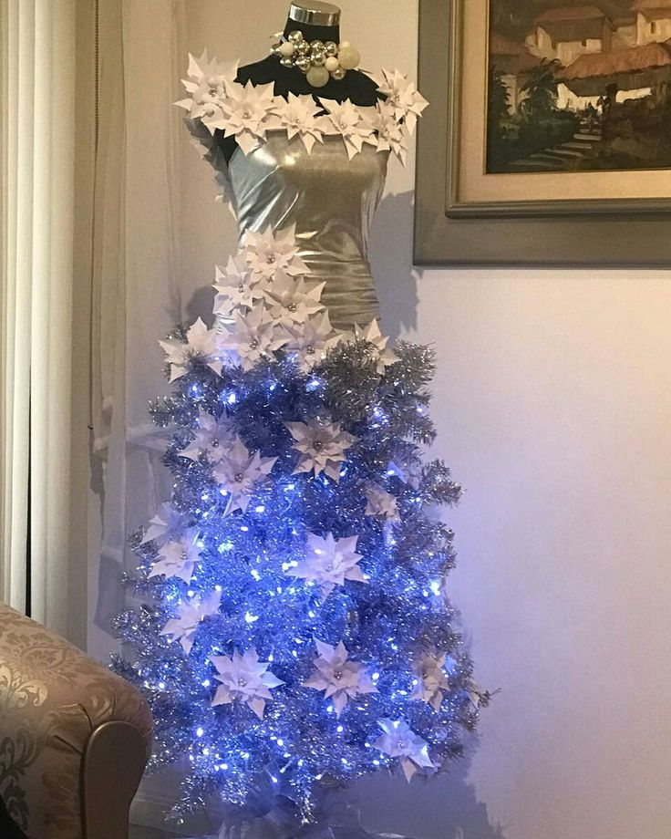 Vestido - árbol navideño iluminado