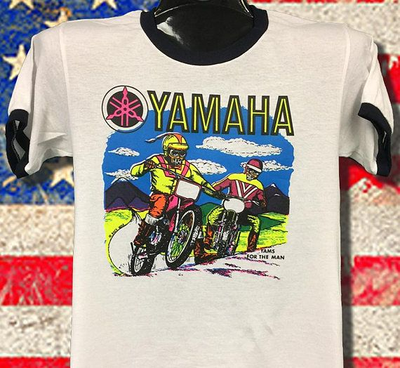 Yamaha Vintage Mx Printed In The 70 S This Transfer Never Mens Tops Vintage Mens Graphic Tshirt
