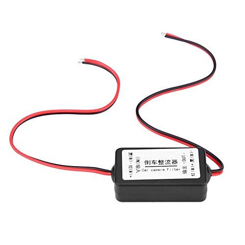 Dasaita 12V DC Power Relay Capacitor Filter Rectifiers for Car Rear View Back Up Camera Aftermarket Camera
