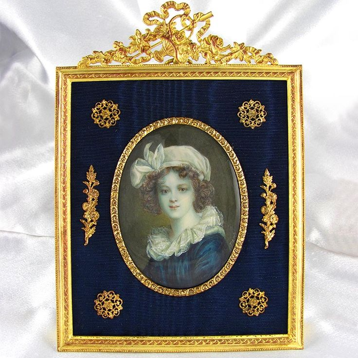 Miniature antique French portrait