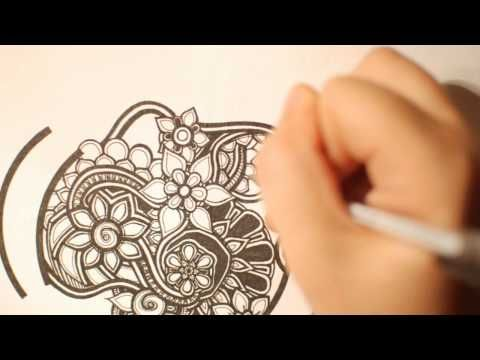 zentangle video of a whole bunch of flowers being drawn: Fun Doodles, Doodles Videos, Bunch Of Flowers, Doodle Ideas, Zentangle Videos, Videos Drawings, Abstract Drawings, Doodles Ideas, Girls Doodles