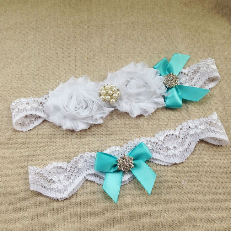 2pcs/set Something Blue Bridal Garter Aqua Blue Wedding Garter Set Romantic Wedding Gift Plus Size Bridal Accessories