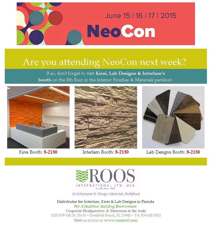 Are you attending NeoCon 2015?