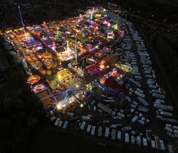 Drone provides stunning bird's eye views of Hull Fair