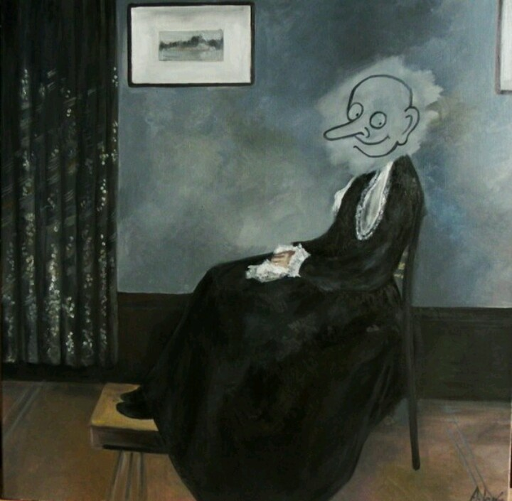 My work copy of whistlers mother from mr.Bean episode