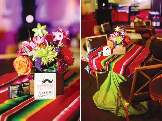 Colorful & Modern Fiesta Engagement Party decor