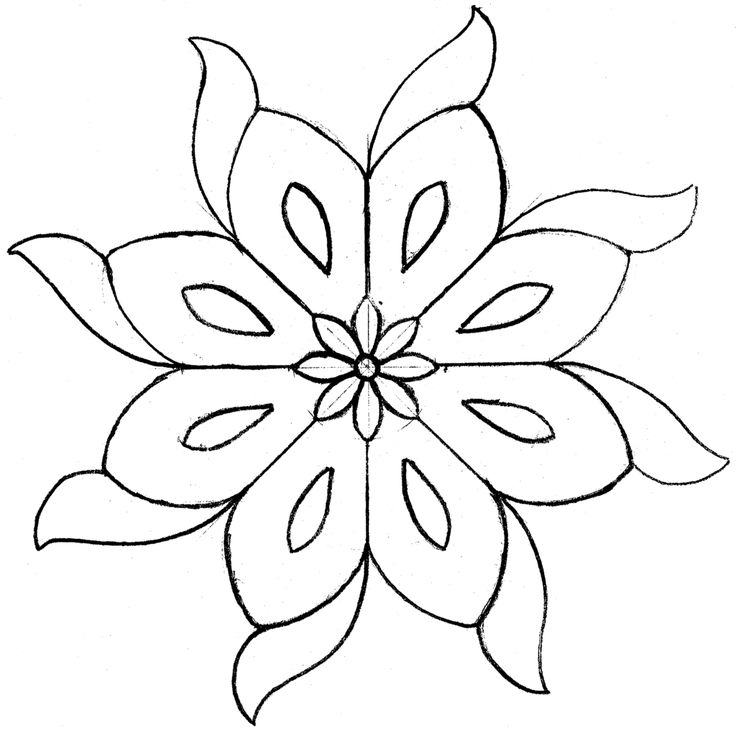 Large persian tile drawing 2