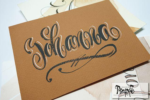 #tischkarte #postkarte #kalligrafie #propfe #handlettering