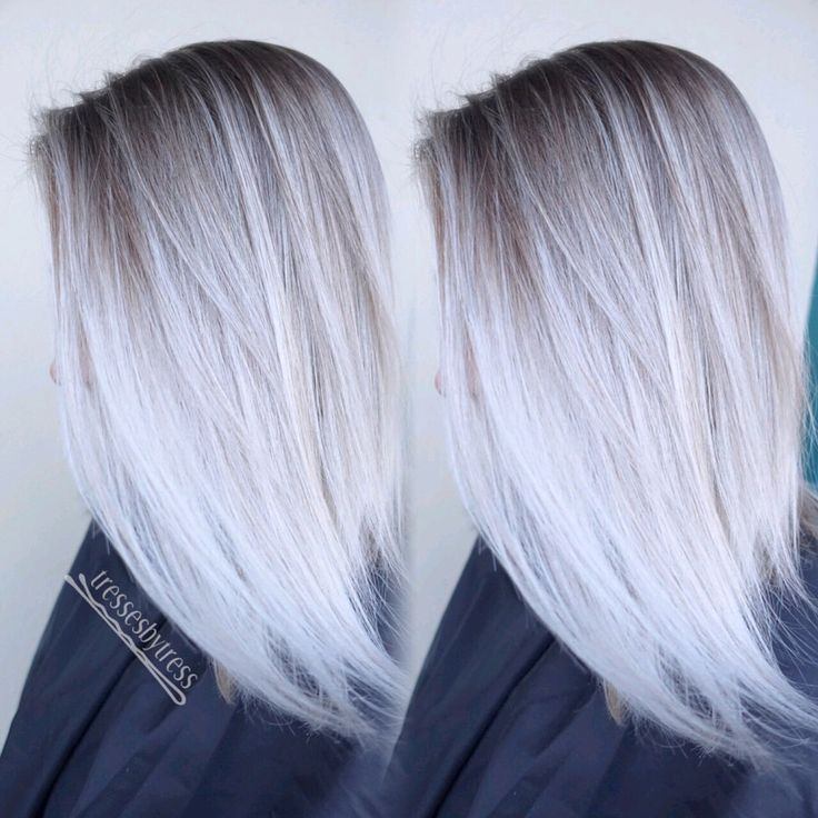 Platinum Blonde Hair With Blue Highlights