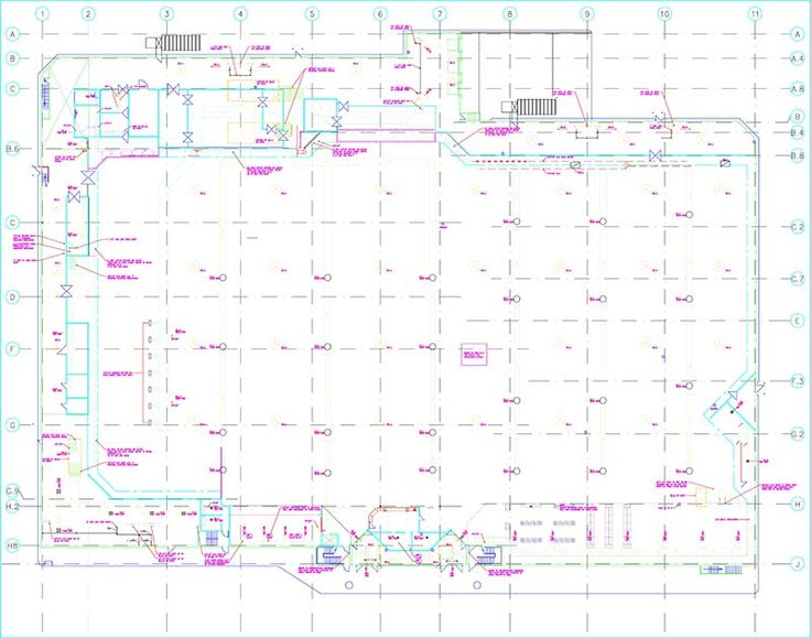 HVAC plan. View more MEP projects at http://www.teslaoutsourcingservices.com/mep-samples.php.
