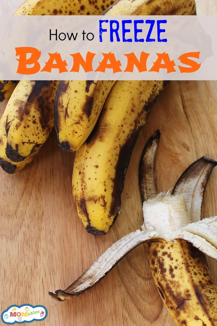 How to Freeze Bananas - I like the ideas about hot to use after freezing, especially the one about drizzling melted chocolate over it!
