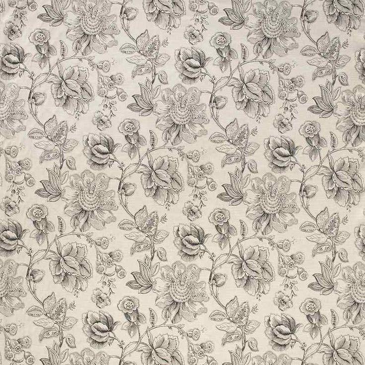 Warwick Fabrics : MANDALAY, Colour BLACK