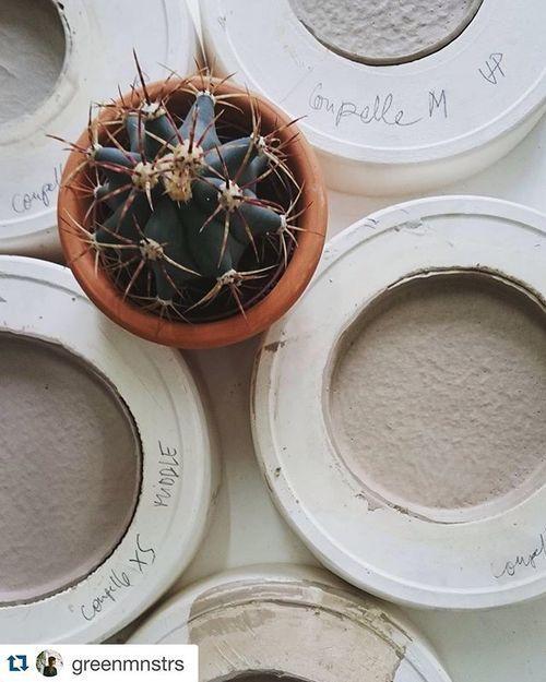Working hard with @greenmnstrs for @klindoeil next week-end in le Carreau du temple...! #porcelain #palmspring #cactus #greenmonsters #yfna #fanietestagenovese #fannyrichard #iciparis #excitingtimesahead
