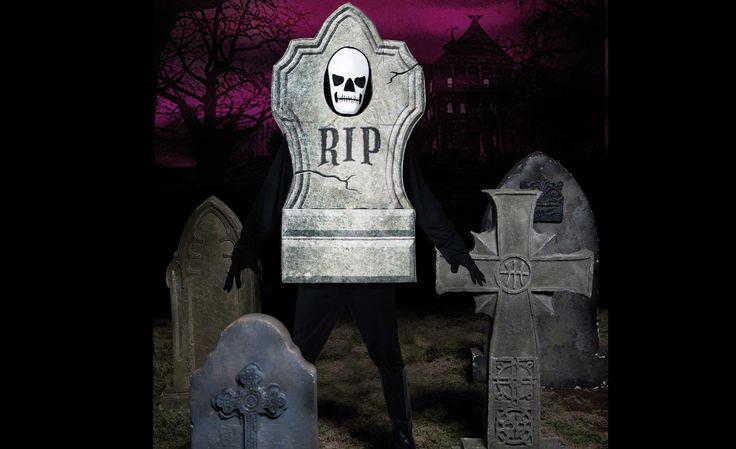 Costume de Pierre tombale, idéal pour impressionner vos amis à Halloween.