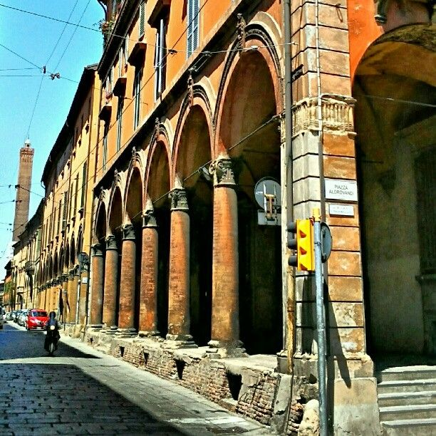 A typical street in Bologna, Italy. Do you like it? - Instagram by @Melvin
